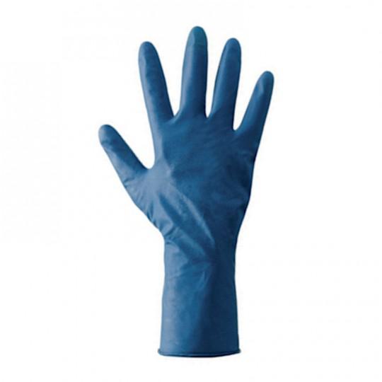 Guanto blu in doppio lattice super-resistente lavabile riutilizzabile a lungo HomeLADY'S LINE®