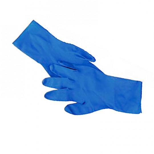 Guanto blu in doppio lattice super-resistente lavabile disinfettabile riutilizzabile a lungo HomeLADY'S LINE®