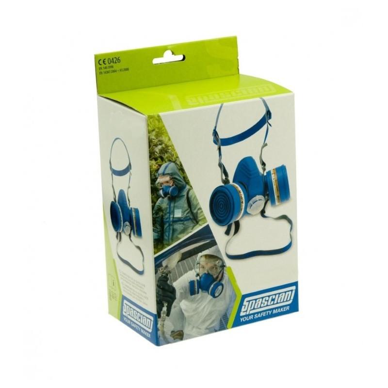 Kit Semimaschera Respiratore Spasciani Duo con filtri 2040 A2P2 NR HomeSPASCIANI
