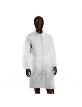 Camice Monouso Bianco Unisex c/tasca PLP 30gr/mq chiusura a clip TAGLIA UNICA Home