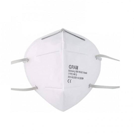 Maschera GRAM per polveri e vapori Classe FFP2 / KN95 CE con elastici HomeVARIABILE