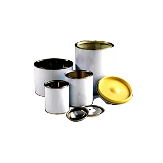 Barattolo ERMETICO in metallo grezzo con coperchio a pressione VARI LATTAGGI HomeLADY'S LINE®