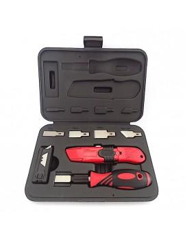 Kit raschietto e cutter con lame rimozione adesivo parabrezza 27 pz HomeLADY'S LINE®