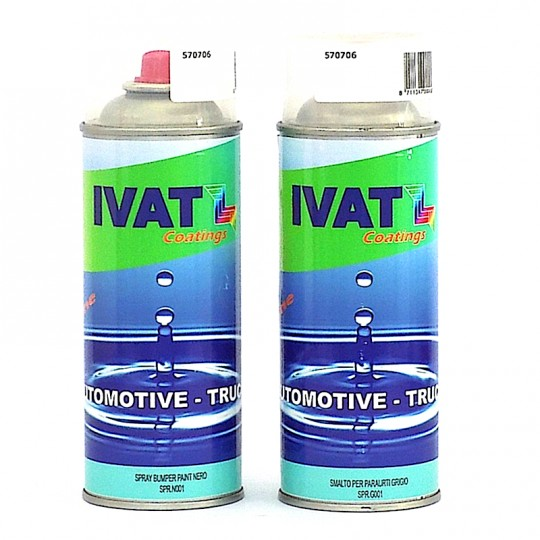 Smalto texturizzante spray grigio o nero 400 ml IVAT