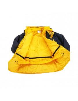Giaccone Giubbotto Parka sportivo in cotone triplo uso giallo/blu Home