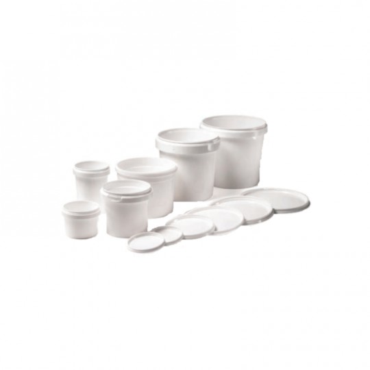 Barattolo in plastica bianco con coperchio ermetico e sigillo HomeLADY'S LINE®