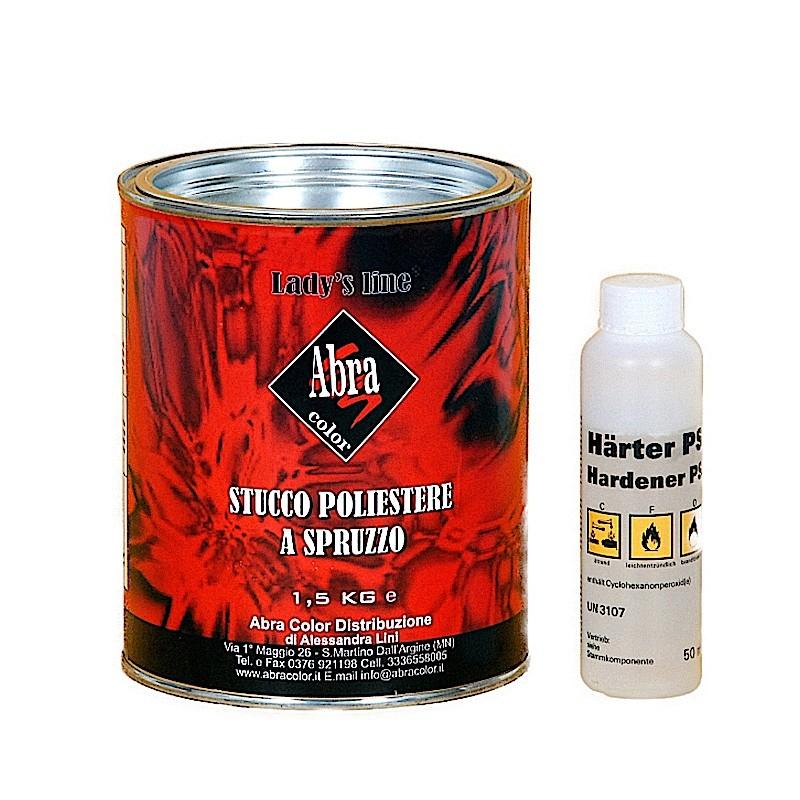 Stucco poliestere a spruzzo 2K Lady's Line® 1,5kg ottimo ancoraggio HomeLADY'S LINE®