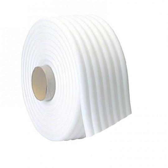 Rotolo cordolo spugnoso bianco da mascheratura 13mm x 50mt