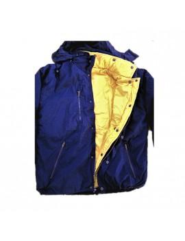 Giubbino Parka sportivo in cotone doppio uso blu/giallo Taglia M Home