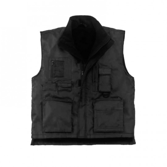 Gilet nero in nylon...