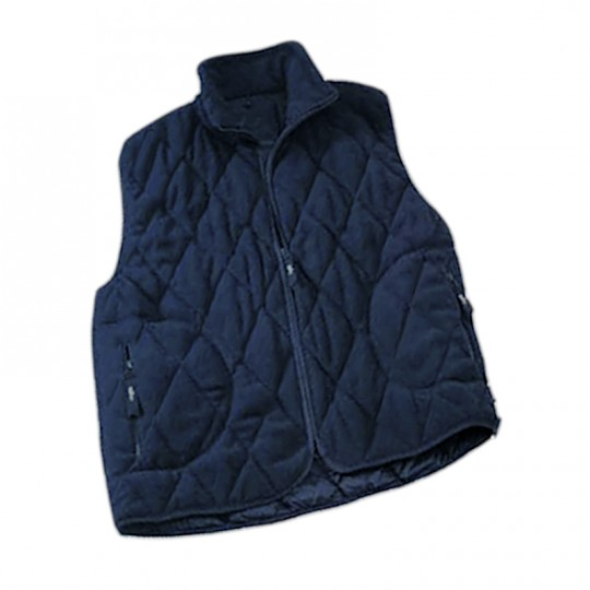 Gilet blu in pile trapuntato Home