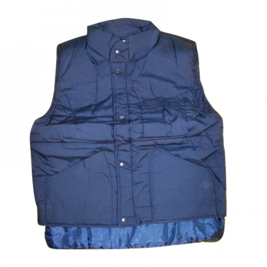 Gilet blu antifreddo in cotone poliestere e nylon WORKER Home