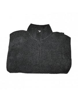 Felpa morbida antipilling grigio scuro con zip corta Taglia XXL Home