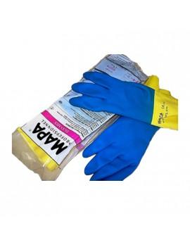 Guanto MAPA DUO-MIX 405 lattice e neoprene floccato giallo-blu Tg 9-10 HomeMAPA