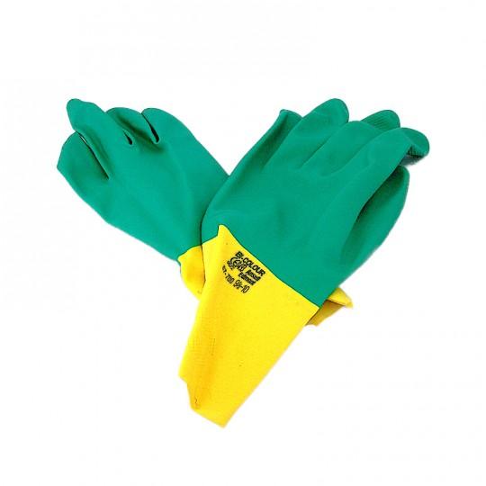 Guanto Ansell Edmont 87-700 giallo verde Taglia 9½-10 Lattice-neoprene-felpato HomeANSELL