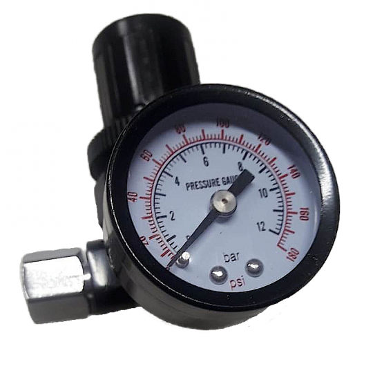 Manometro analogico con Regolatore per aerografi ed impianti ad aria HomeLADY'S LINE®