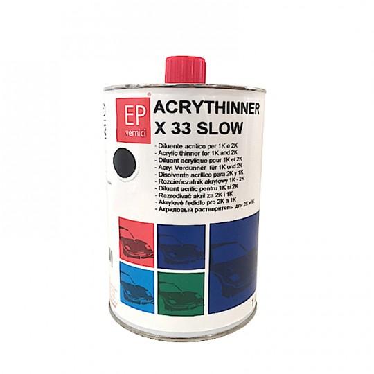 Diluente Puro acrilico normale/lento e rapido EP 1lt per fondi, vernici e trasparenti