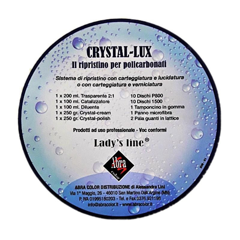Unico Kit rinnovo fari in due sistemi Crystal-lux Lady's Line® c/TRASPARENTE e/o c/PASTE HomeLADY'S LINE®
